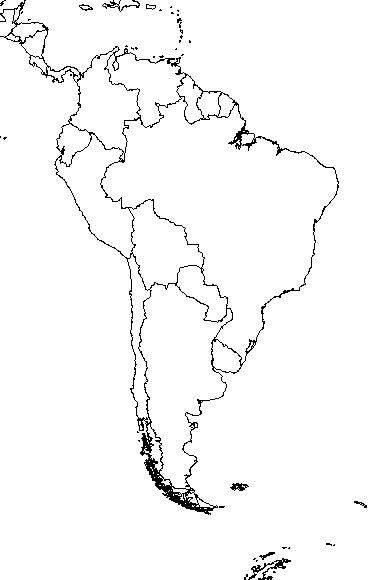 Blank Map Of South America With Rivers